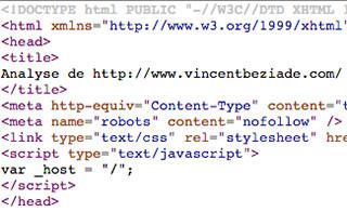 Analyse du référencement du site existant