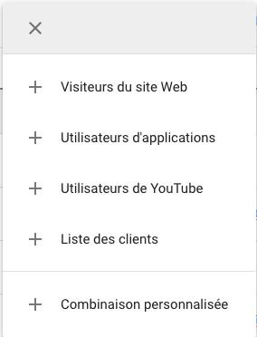 Type d'audience sur Google Ads